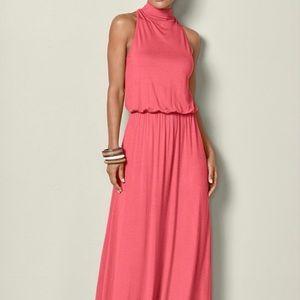 NWOT Venus coral maxi dress